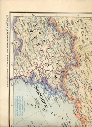 National Geographic Map October 1953-0