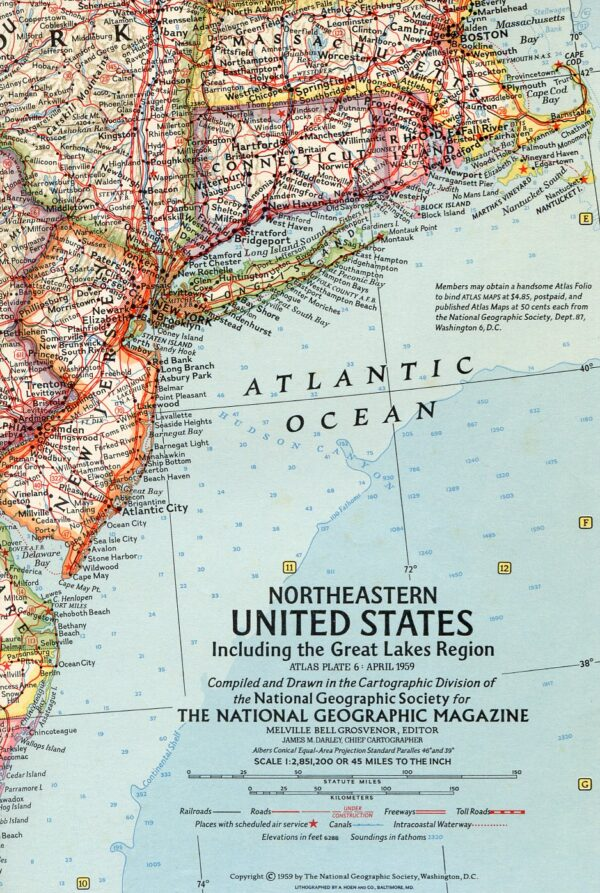 National Geographic Map April 1959-0