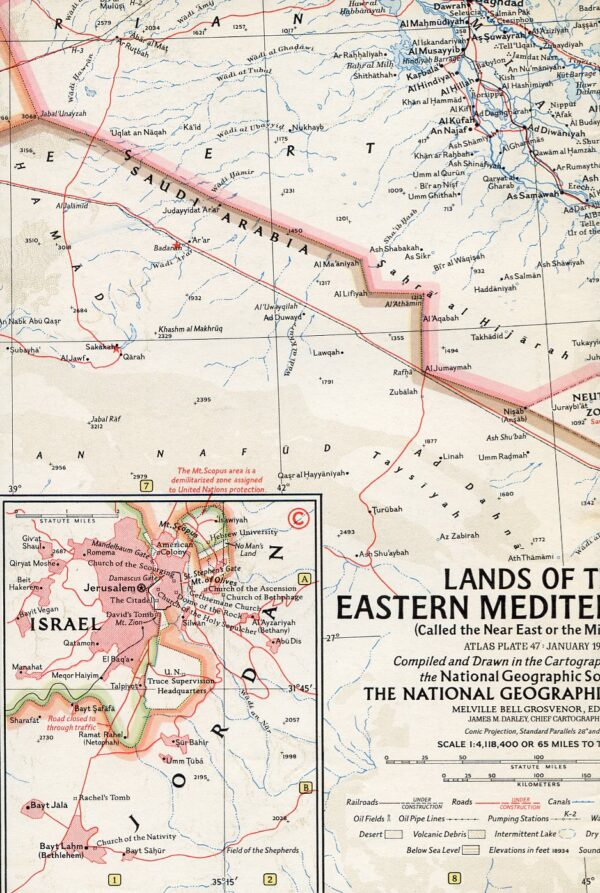 National Geographic Map January 1959-0