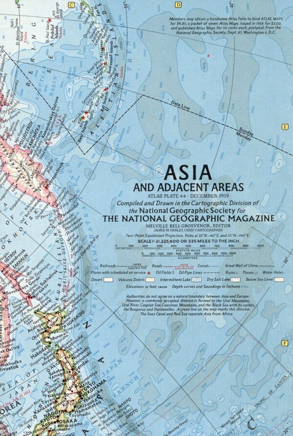 National Geographic Map December 1959-0