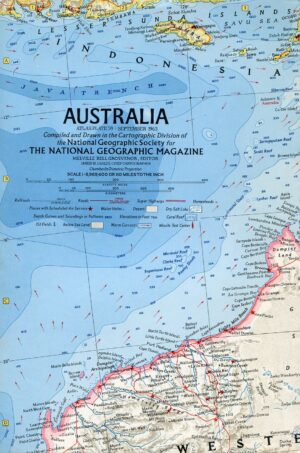 National Geographic Map September 1963-0