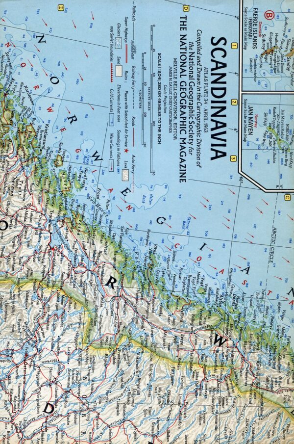 National Geographic Map April 1963-0