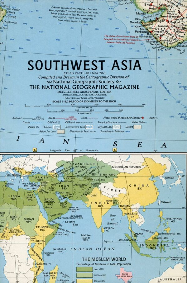 National Geographic Map May 1963-0