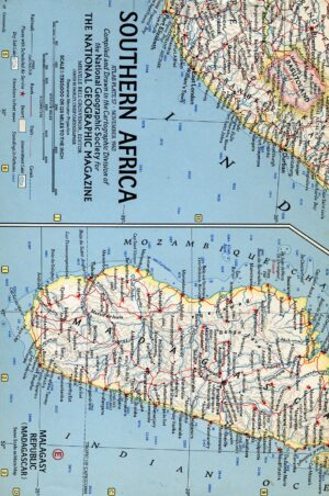 National Geographic Map November 1962-0