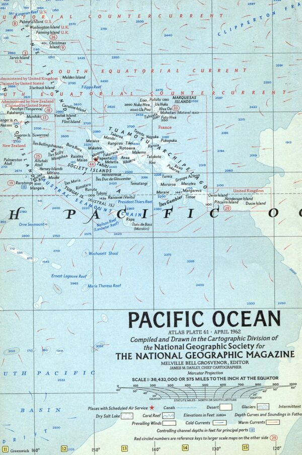 National Geographic Map April 1962-0