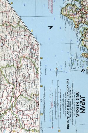 National Geographic Map December 1960-0