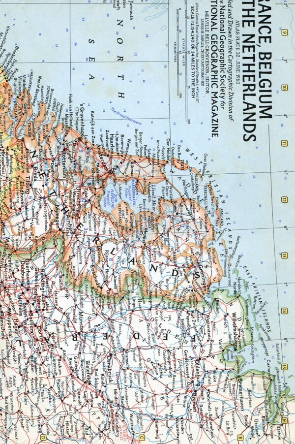 National Geographic Map June 1960-0