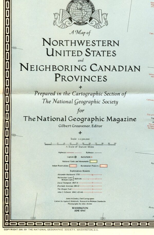 National Geographic Map June 1941-0