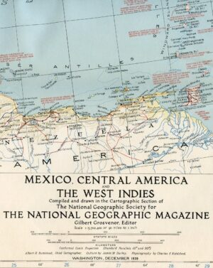 National Geographic Map December 1939-0