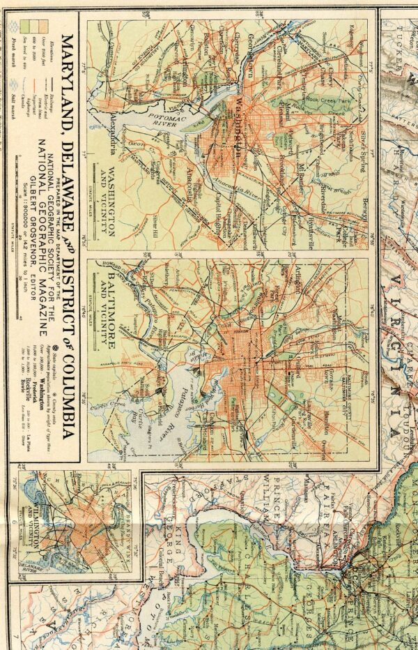National Geographic Map 1925-0