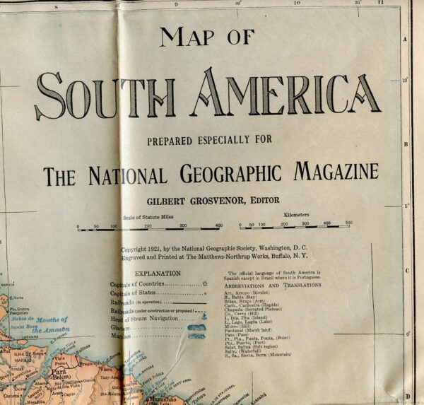 National Geographic Map 1921-0