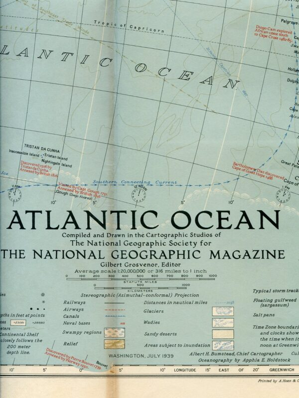 National Geographic Map July 1939-0