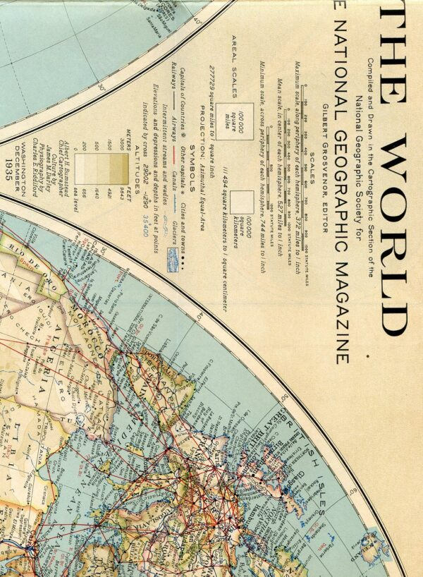 National Geographic Map December 1935-0